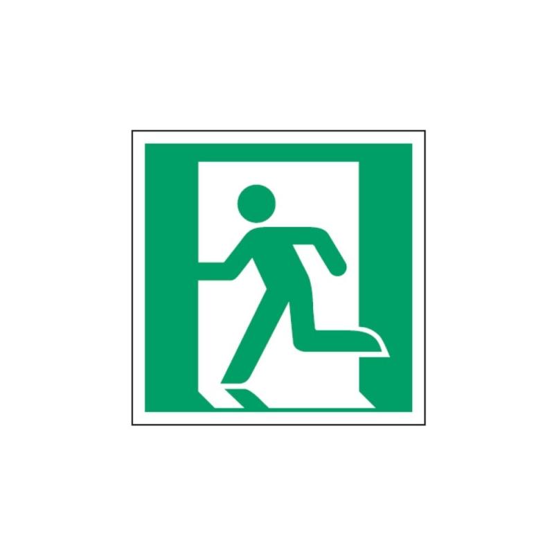 Znak E001 Wyjście ewakuacyjne (lewo) E01