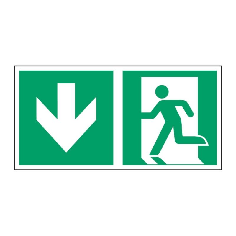 Znak Kierunek do wyjścia ewakuacyjnego E01-DD