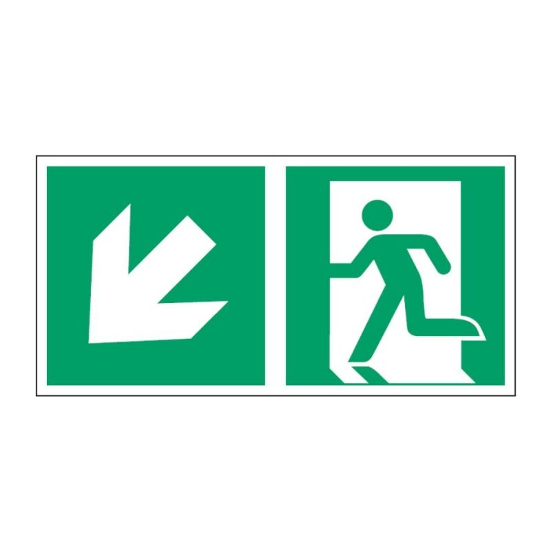 Znak Kierunek do wyjścia ewakuacyjnego E01-LD