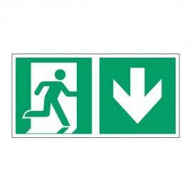 Znak Kierunek do wyjścia ewakuacyjnego E02-DD