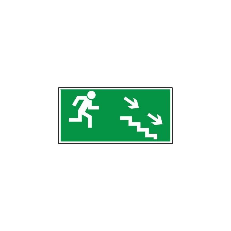 Znak 11 Kierunek ewakuacji schodami D-P