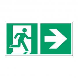 Znak Kierunek do wyjścia ewakuacyjnego E02-PP
