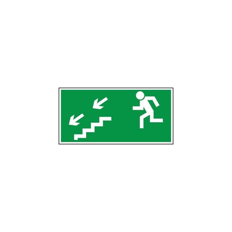 Znak 11 Kierunek ewakuacji schodami D-L