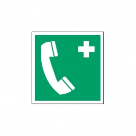 Znak E004 Telefon alarmowy E04