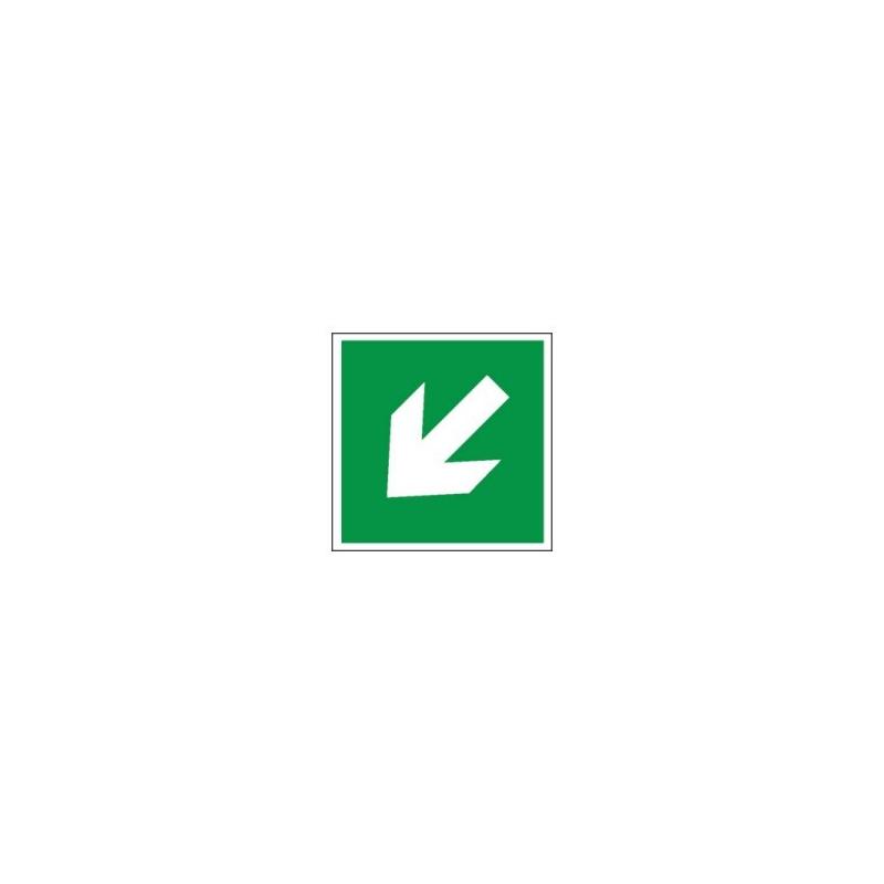 Znak 11 Kierunek drogi ewakuacyjnej strzałka skośna