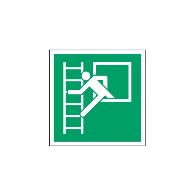 Znak Okno ewakuacyjne z drabiną ewakuacyjną E16