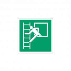 Znak E016 Okno ewakuacyjne z drabiną ewakuacyjną E16
