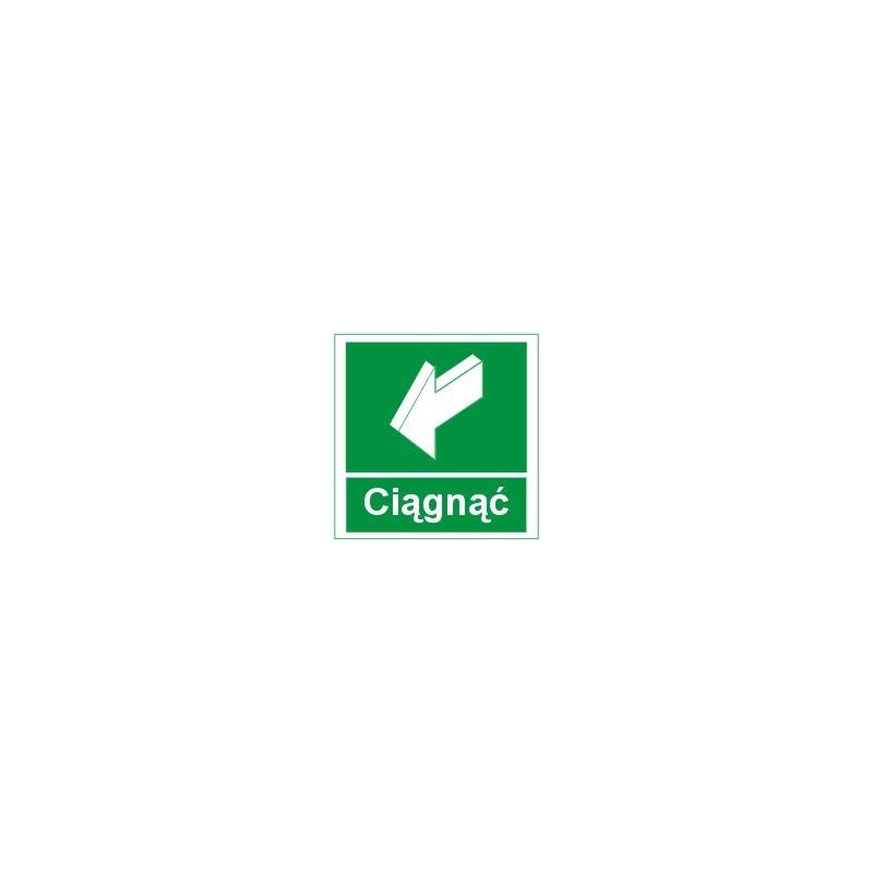 Znak 11 Ciągnąć (aby otworzyć) z napis 150x150 FF