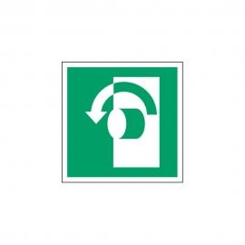 Znak Przekręć w lewo aby otworzyć E18