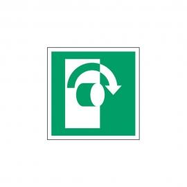 Znak Przekręć w prawo aby otworzyć E19