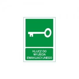Znak 11 Klucz do wyjścia ewakuacyjnego 150x200 PF