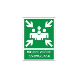 Znak 11 Miejsce zbiórki do ewakuacji 270x200 PF