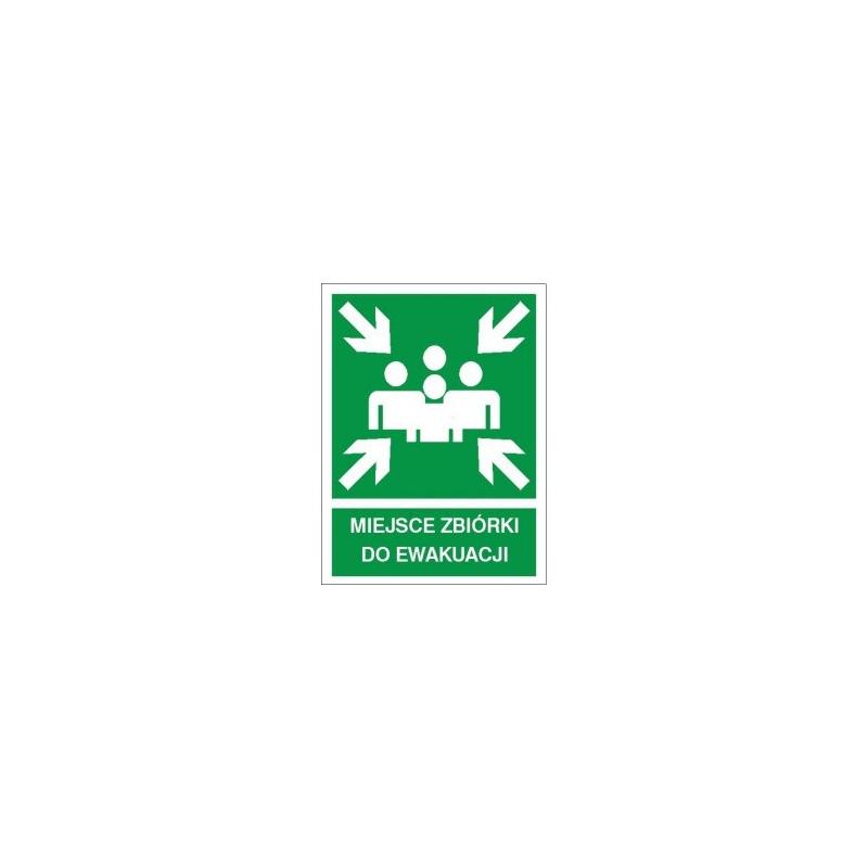 Znak Miejsce zbiórki do ewakuacji 270x200 PF