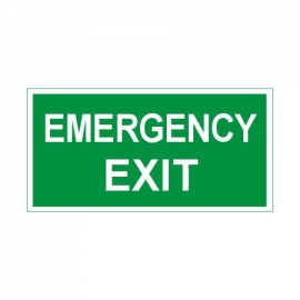 Znak 11 Emergency Exit 400x200 PF