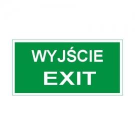 Znak 11 Wyjście exit 300x150 FF