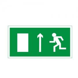 Znak Kierunek drogi ewakuacyjnej góra