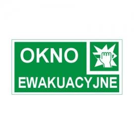 Znak 11 Okno ewakuacyjne 300x150 PF