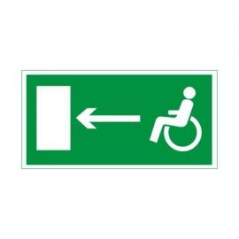 Znak 11 Kierunek dr ew niepełnospr lewo 300x150PF