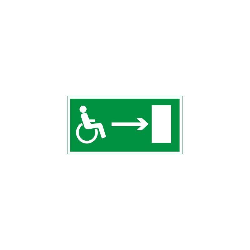 Znak Kierunek drogi ewakuacyjnej niepełnosprawnych prawo