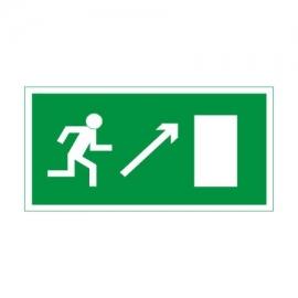 Znak Kierunek drogi ewakuacyjnej góra prawo 300x150 PF