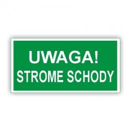 Znak 11 Uwaga Strome Schody 300x150 PB