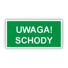 Znak Uwaga Schody