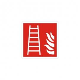 Znak F003 Drabina pożarowa ISO7010 F03