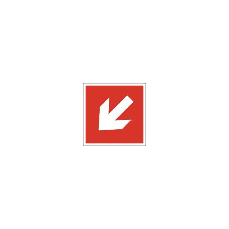 Znak Kierunek do rozmieszczenia strzałka skośna