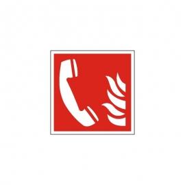 Znak Telefon alarmowania pożarowego ISO7010  F06