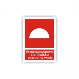 Znak 12 PPoż Stanowisko Czerpania Wody 225x275 PB