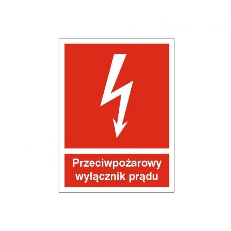 Znak 12 Przeciwpożarowy wyłącznik prądu 150x200 FB