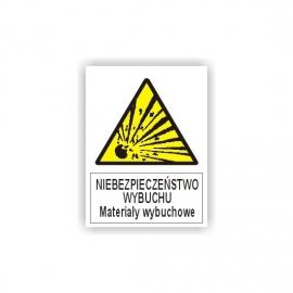 Znak Materiały Wybuchowe 225x275 PB