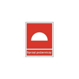 Znak Sprzęt przeciwpożarowy z napisem 150x200 PB