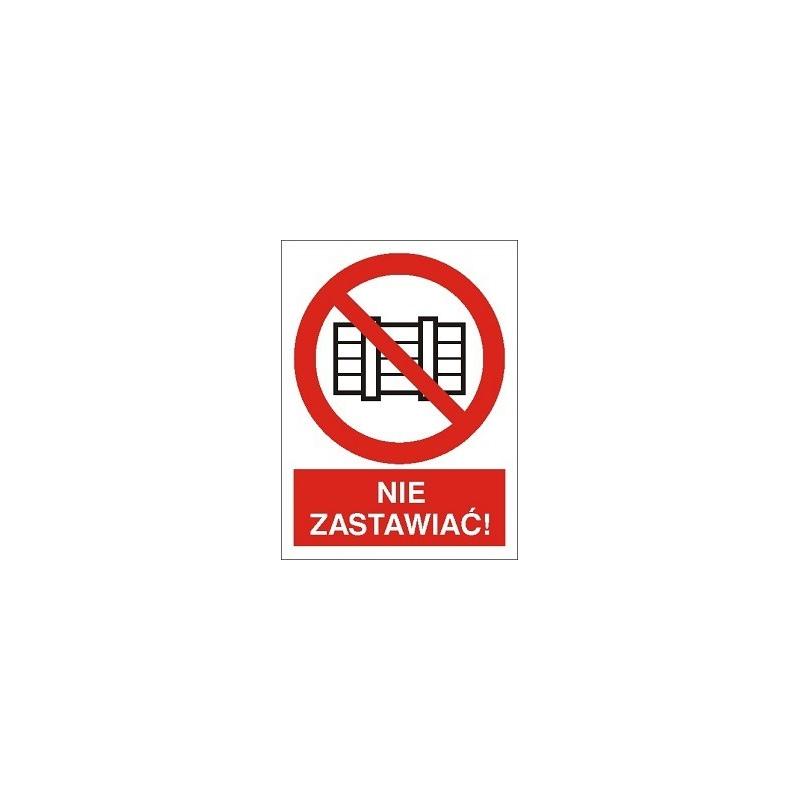 Znak Nie zastawiać 200x270 PB