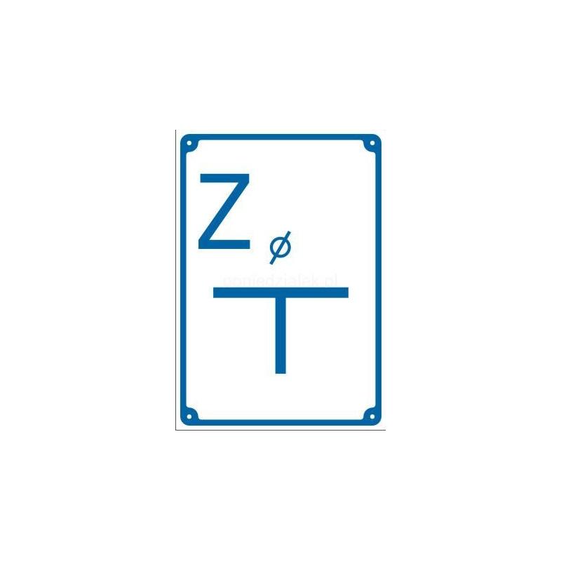 Znak Tabliczka wodociągi Zasuwa 150x200 PB