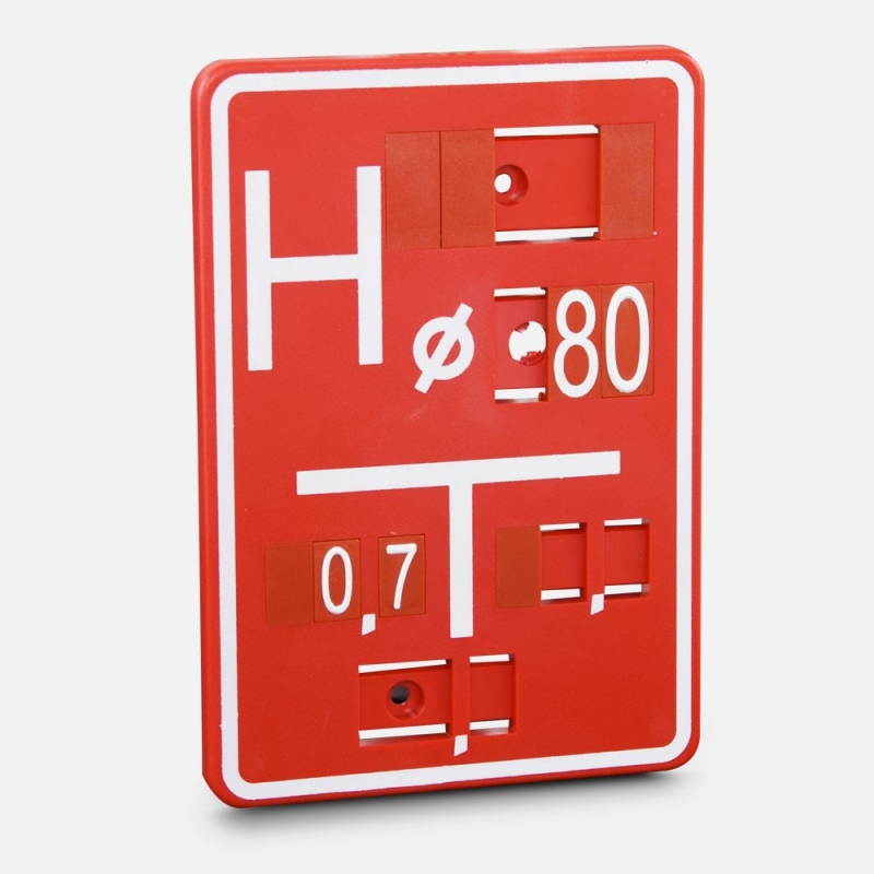 Tabliczka wodociągowa - Hydrant PCV M