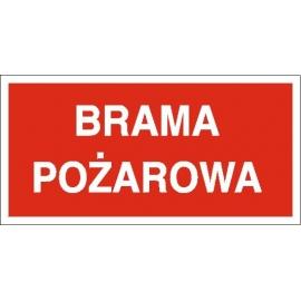 Znak Brama pożarowa 400x200 PB