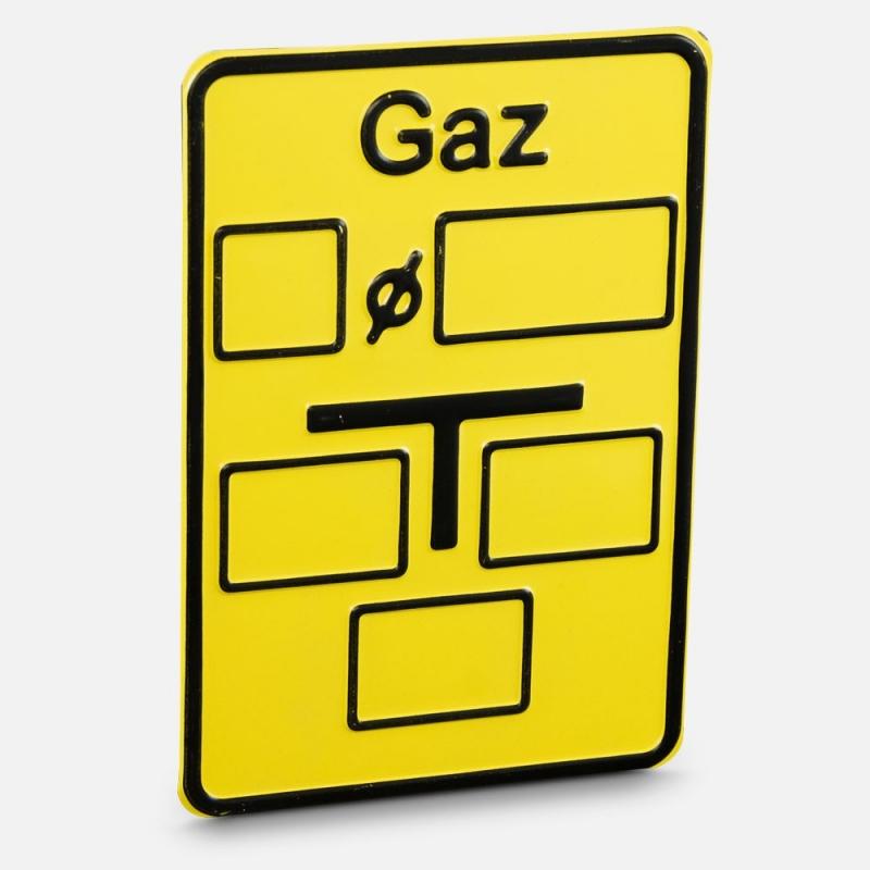 Tabliczka wodociągowa - Gaz
