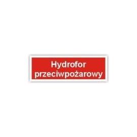 Znak 12 Hydrofor przeciwpożarowy 300x100 PB