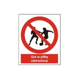 Znak 14 Zakaz gry w piłkę 225x275 PB