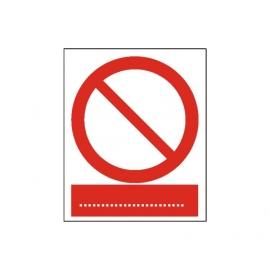 Znak Ogólny znak zakazu  225x275 PB