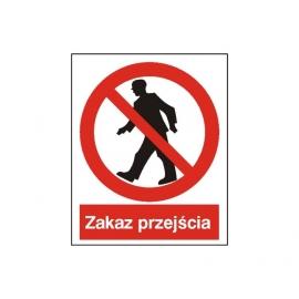 Znak 14 Zakaz przejścia  225x275PB