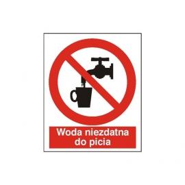 Znak 14 Zakaz picia wody 225x275 PB