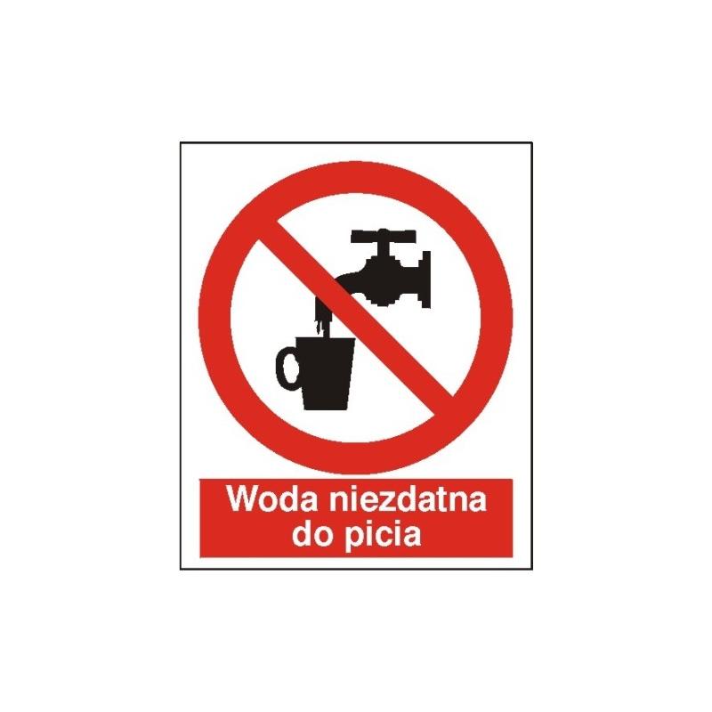 Znak Zakaz picia wody 225x275 PB