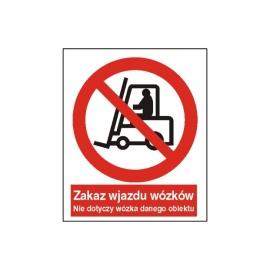 Znak 14 Zakaz wjazdu wózków 225x275 PB