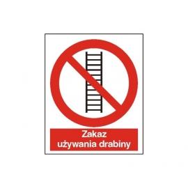 Znak 14 Zakaz używania drabiny 225x275 PB