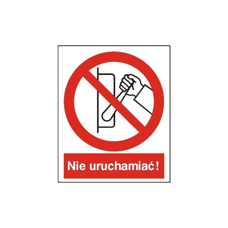 Znak 14 Zakaz uruchamiania maszyny 225x275 PB
