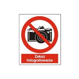 Znak 14 Zakaz fotografowania 225x275 PB