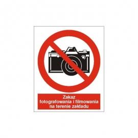 Znak 14 Zakaz fotografowania i filmowania225x275PB