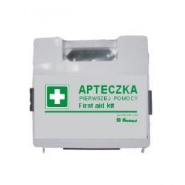 Apteczka z wyposażeniem PCV BDr DIN13164 + wieszak
